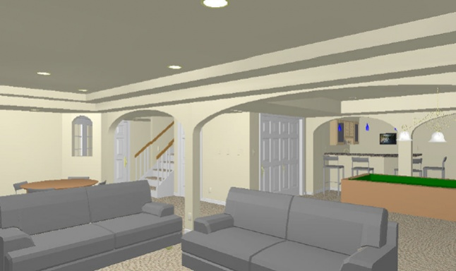 Arch ways, columns and ceiling drops - basement-base1.jpg