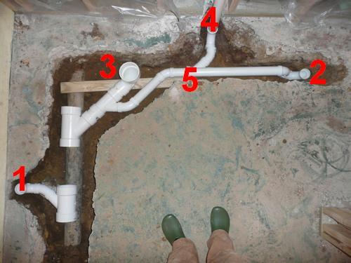 Floor Broke Up Rough In Plumb For Basement Bath