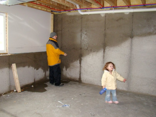 Superbe Wet Basement Walls   New Construction In Winter Basement 1