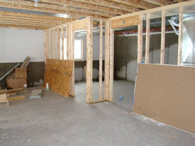 Wet Basement Walls   New Construction In Winter Basement 2