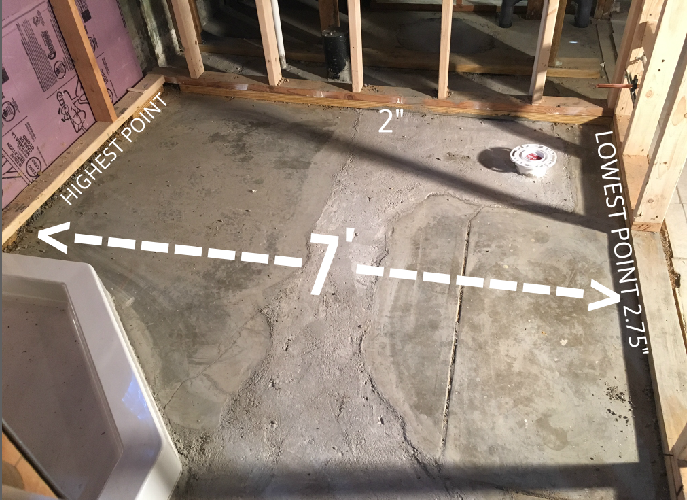 need to level basement bathroom floor flooring diy chatroom home