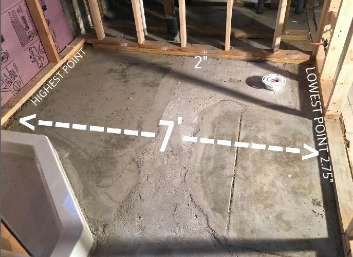 Need To Level Basement Bathroom Floor Flooring Diy