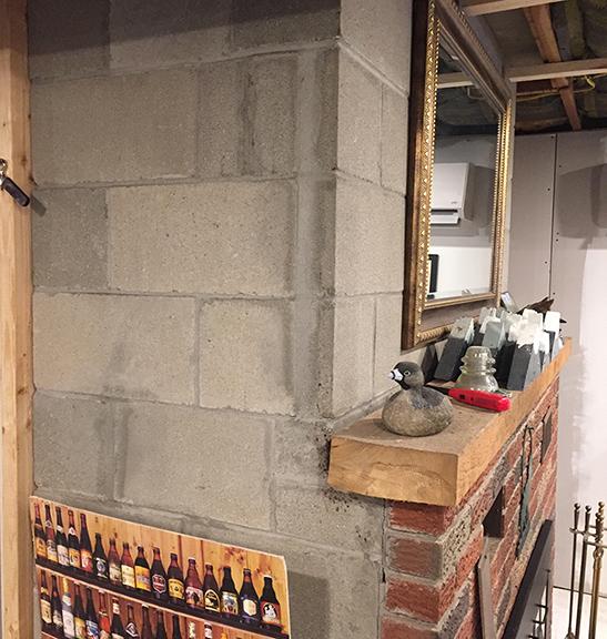 Finishing A Cinder Block Basement Fireplace - Remodeling ... on Cinder Block Fireplace Diy id=61733