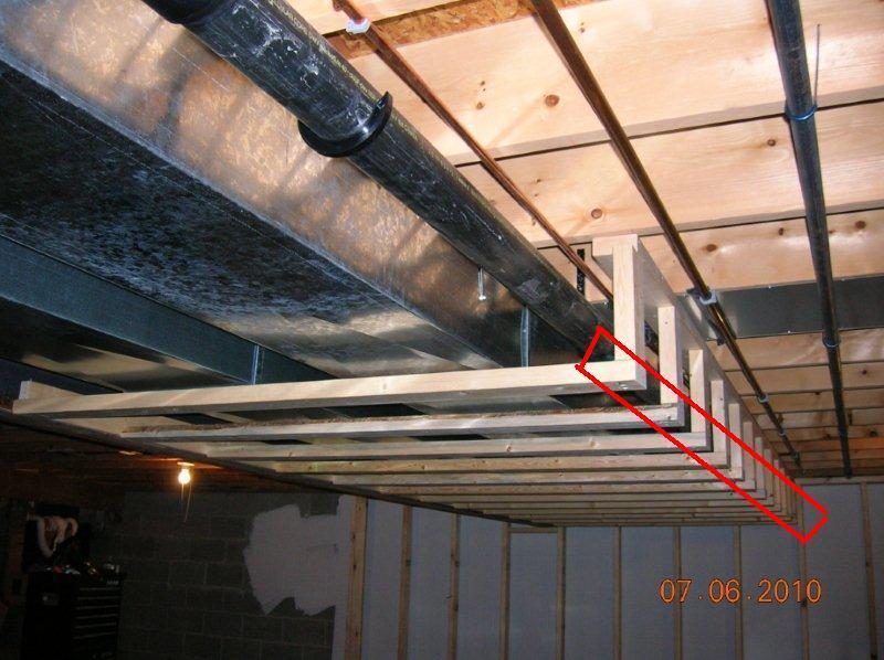 Superieur ... Framing Ductwork Soffit Basement Soffit