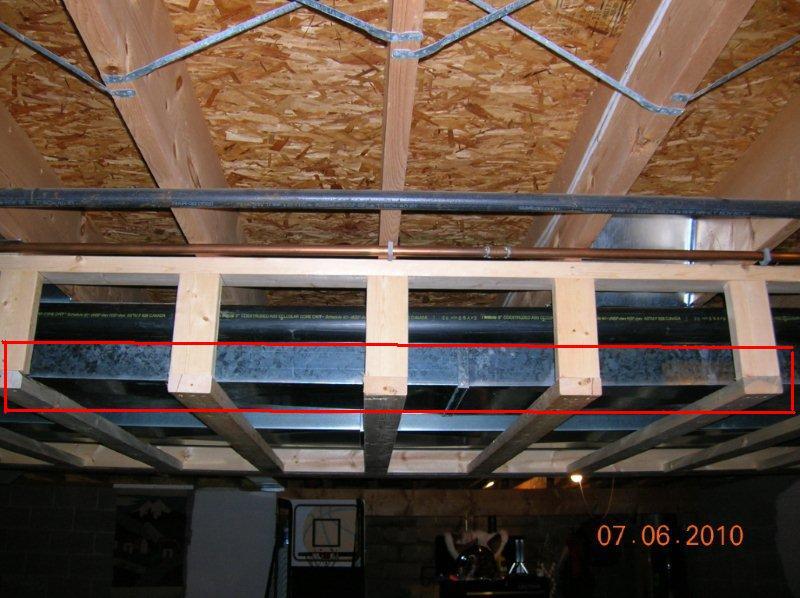 Framing Ductwork Soffit Basement Soffit B