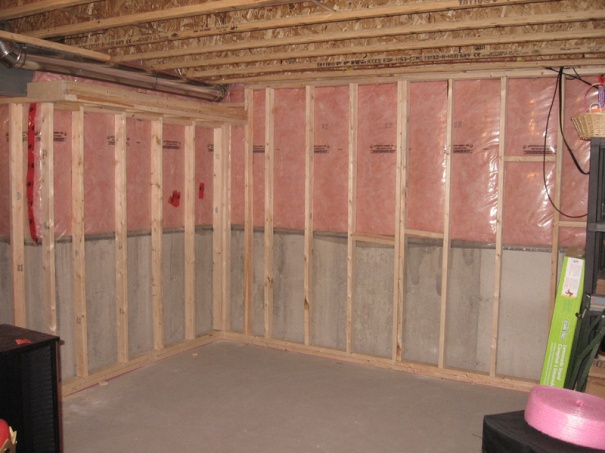 How To Frame A Basement Wall basement sofits - 2x2 or metal framing - building & construction