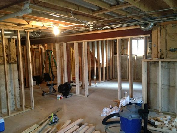 my basement project framing remodeling diy chatroom home rh diychatroom com Your Basement Flooded Basement