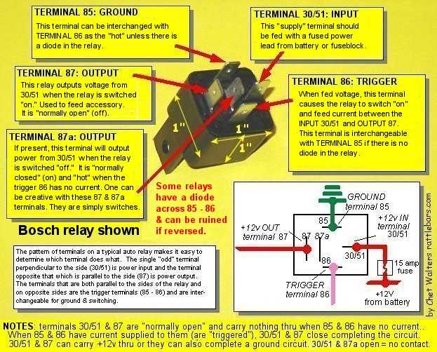 Automotive Relay 30a40a Question In My Vehicle Urgent Automotive