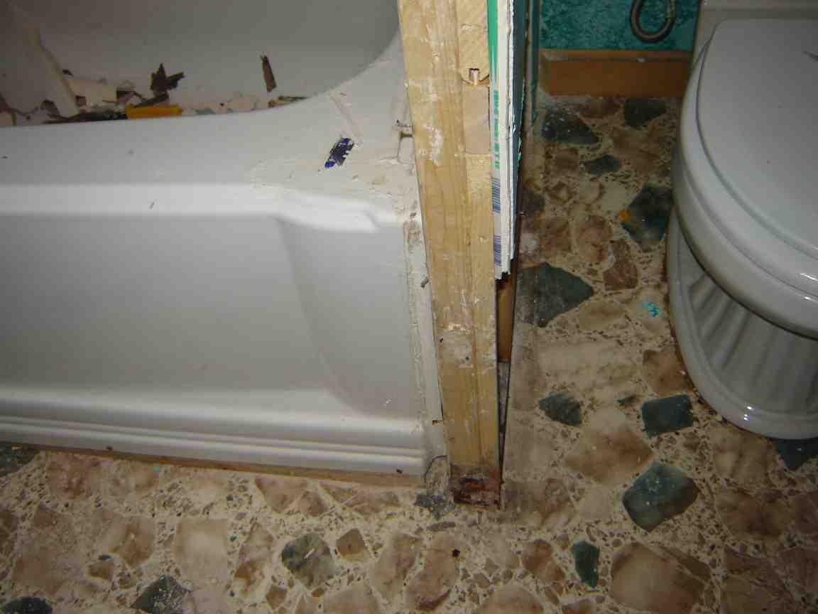 Mold Framing Bathroom Wall Remodeling Diy
