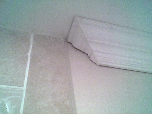 Crown Molding Termination At Tile Bath Jpg