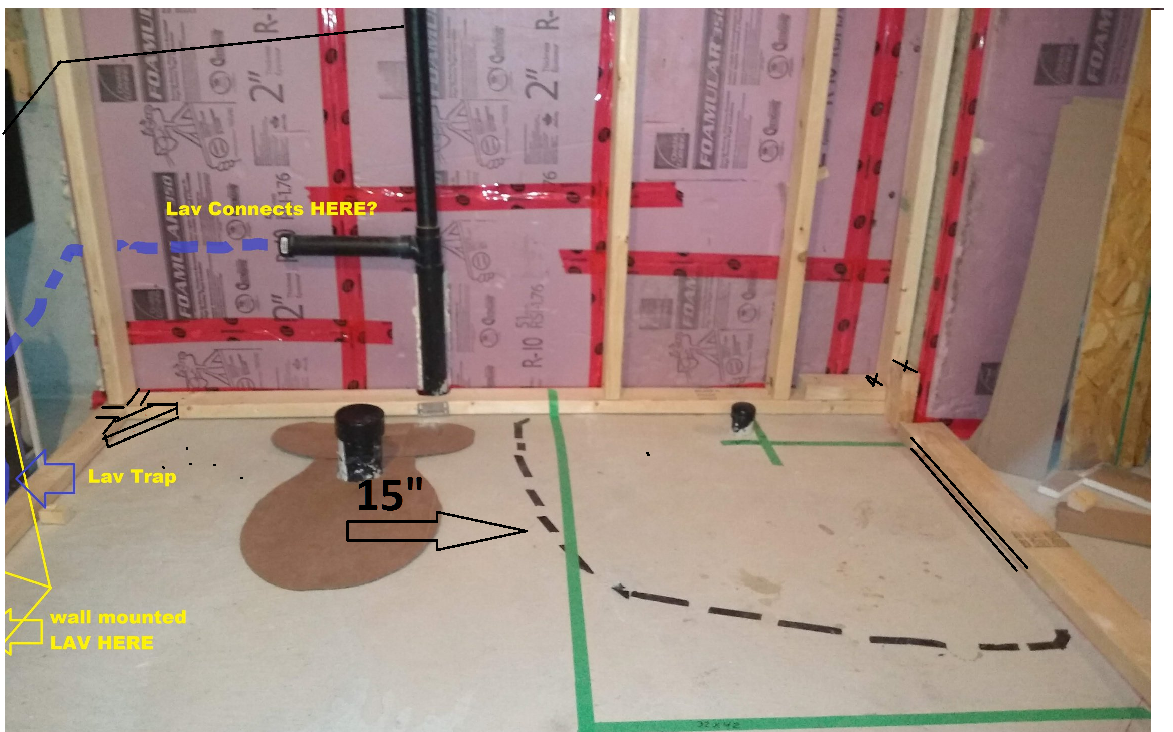 Basement Bathroom Rough In Planning, How To Install Bathroom In Basement Without Rough In