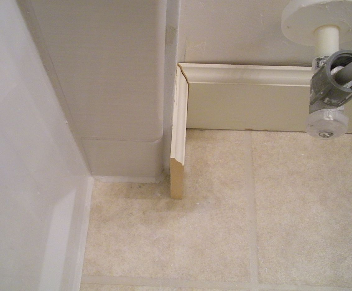 Wall Tile To Baseboard Transition Remodeling Diy