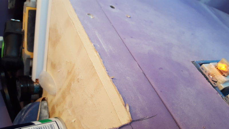 Need help making seamless smooth transition where drywall meets plywood bthroom shelf-bath3.jpg