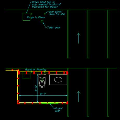 Shower Drain Location Plumbing Diy Home Improvement