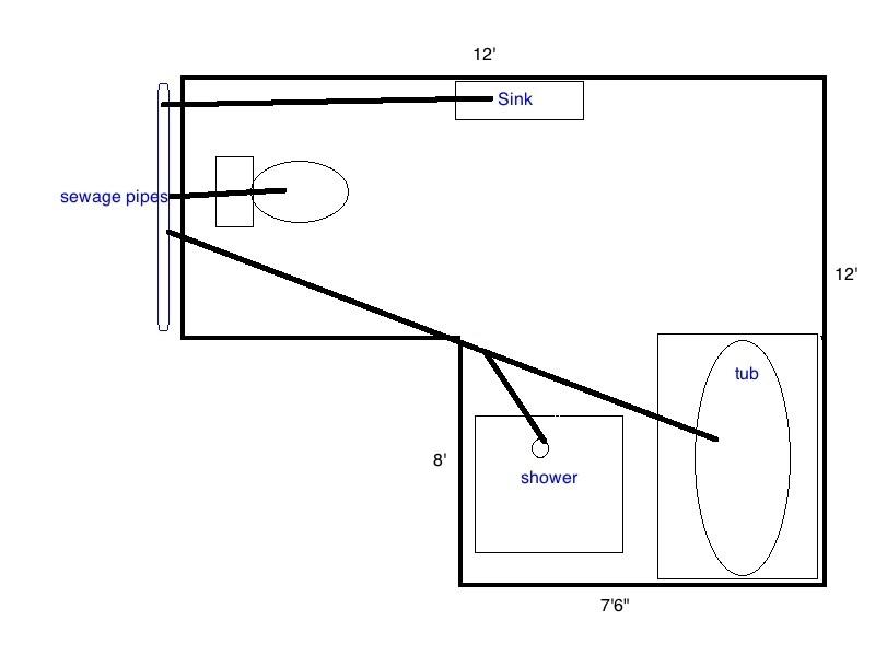 Sewage line and vent design new basement bath-bathroom.jpg