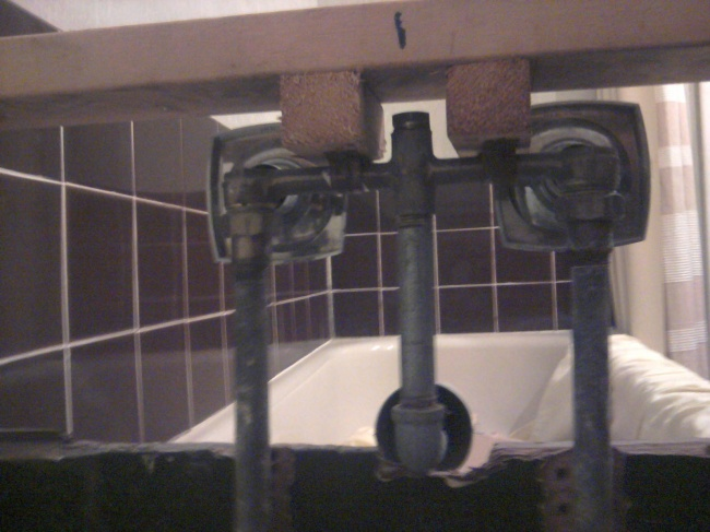 Install Shower In Existing Bathtub Bathroom Pipes Back Jpg