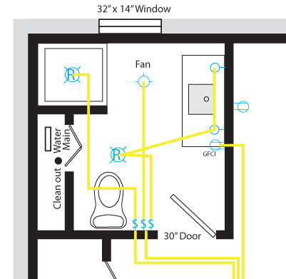 basement bathroom wiring electrical diy chatroom home rh diychatroom com Wiring a Basement Room Wiring Basement Wall