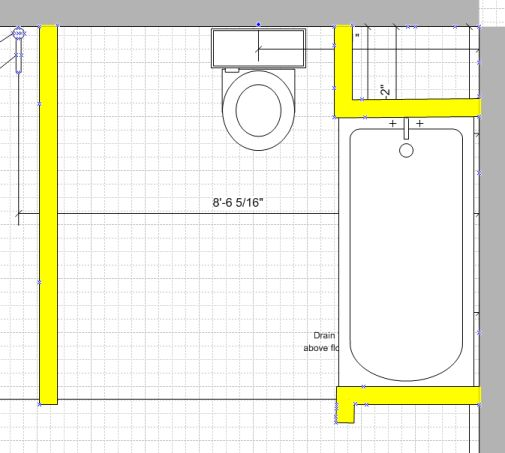 Trying to figure out layout in roughed in basement for Basement bathroom design layout