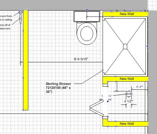 Trying To Figure Out Layout In Roughed Basement Bathroom