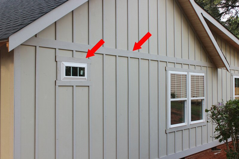 Board And Batten Window Detail Roofing Siding Diy Home
