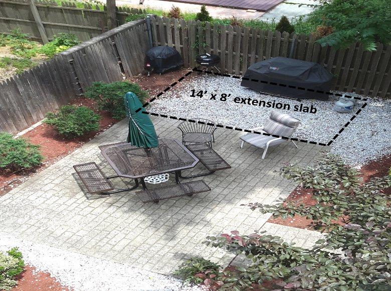 Resurfacing Extending Backyard