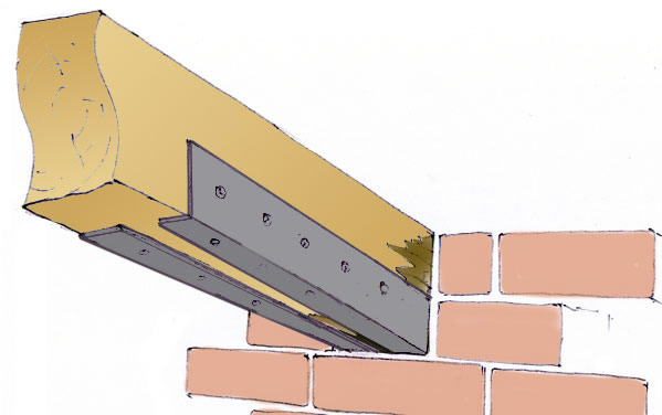 How to replace a rotten sill plate, floor, and rim joists?-beam-end-angle.jpg