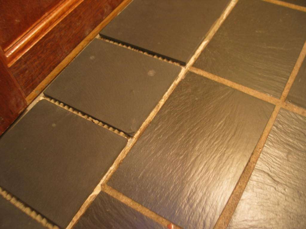 Using Concrete As Grout For Slate Floor Picture Jpg