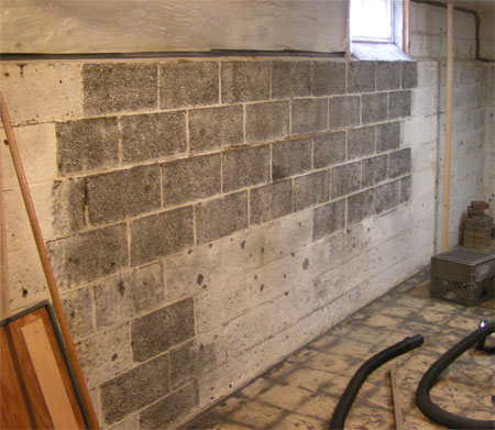 ... Blasting To Remove Paint From Cinder Blocks In A Basement Blocksdone