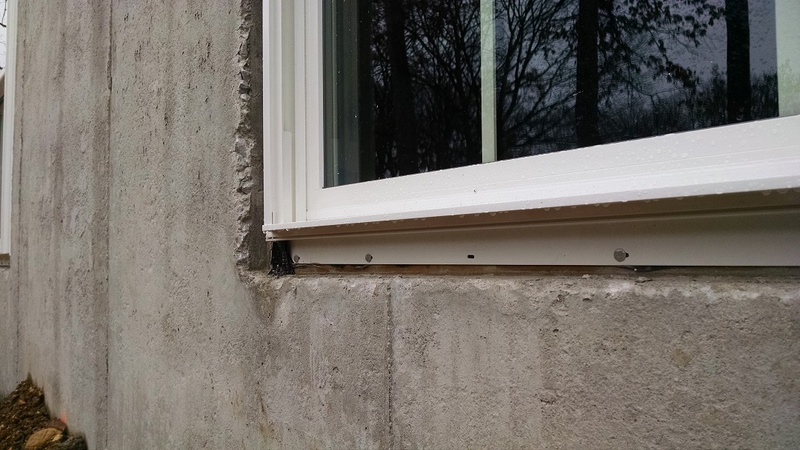 Window Install In Basement Masonry Wall Windows And
