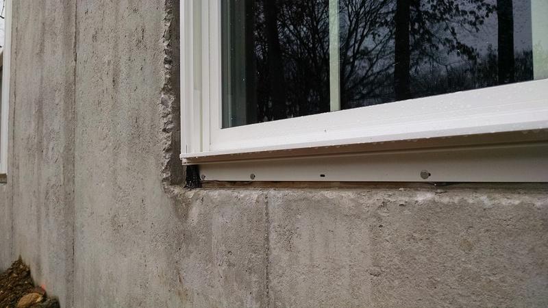 Window Install In Basement Masonry Wall Windows And