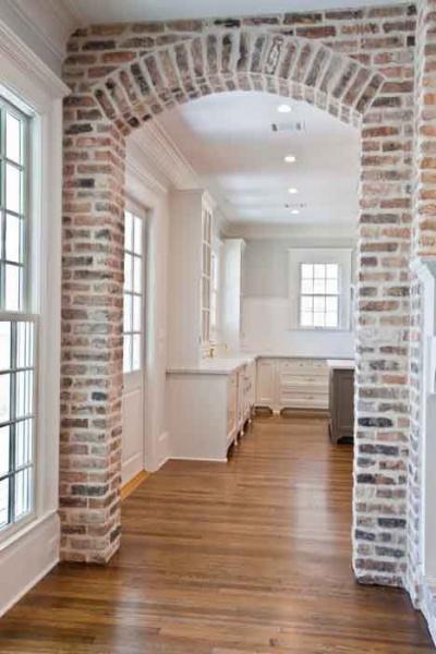 Cost process for interior brick archway concrete stone for Interior brick veneer cost