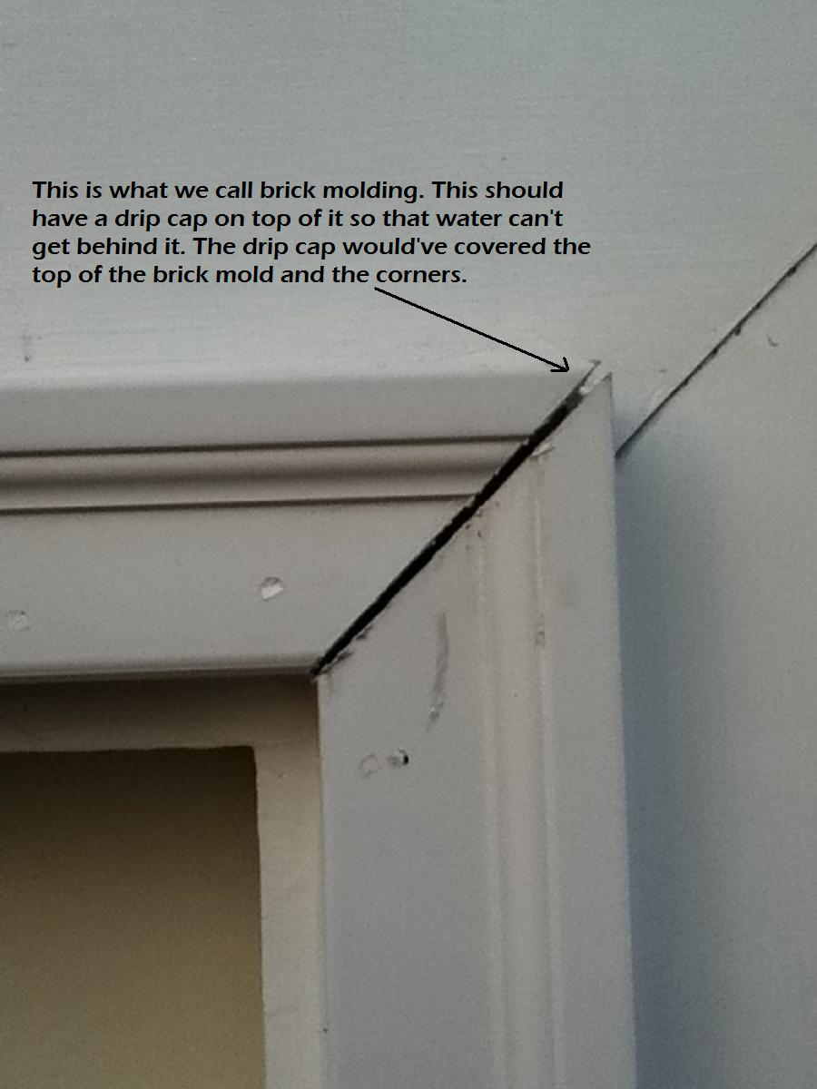 Door trim miter carpentry diy chatroom home improvement forum for What is a brick mold on an exterior door