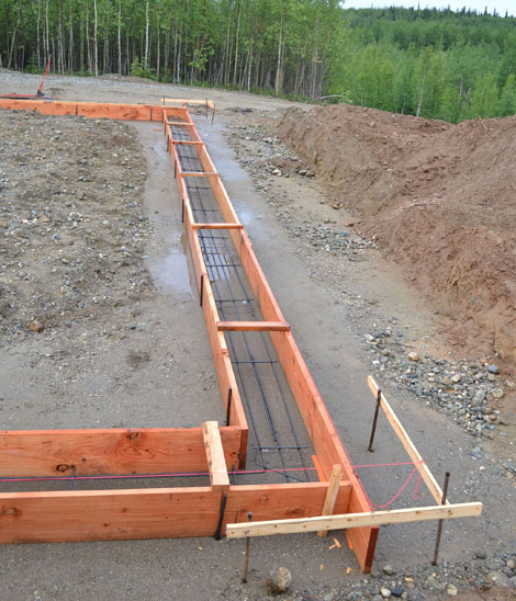 how to build concrete wall forms