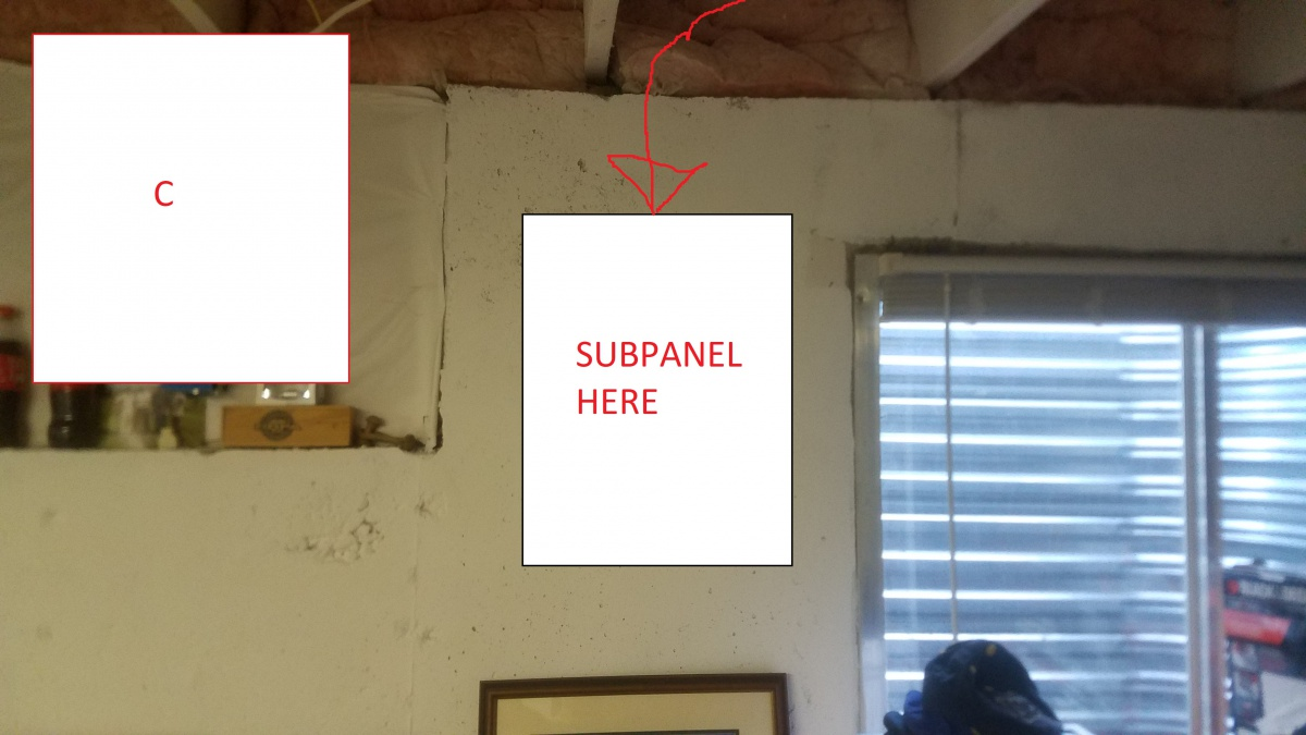 Installing Seimans 100a Subpanel In Basement Electrical Diy Wiring A To C