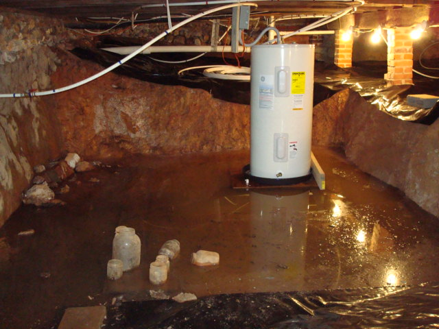 Water in crawlspace dug out too close to foundation how for How much to build a house in mn