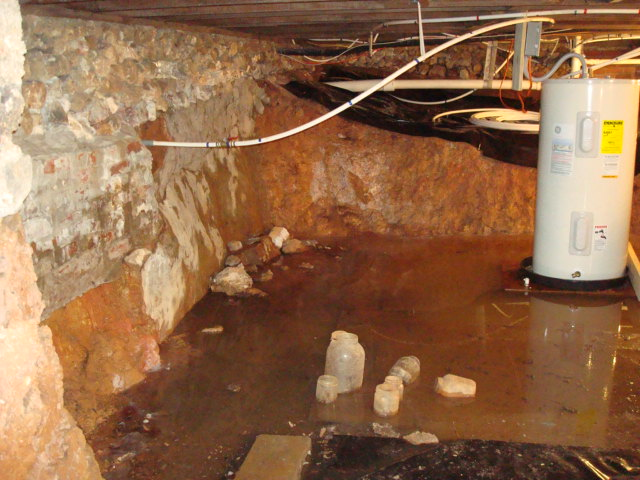 Water In Crawlspace Dug Out Too Close To Foundation How