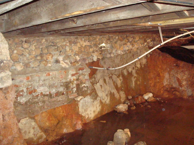Water in crawlspace, dug out too close to foundation, How to fix? Build a wall?-c3.jpg