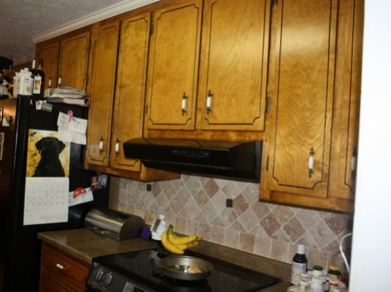 Kitchen Cabinet Refinishing Nightmare...Help Please!!-cabinet-before.jpg