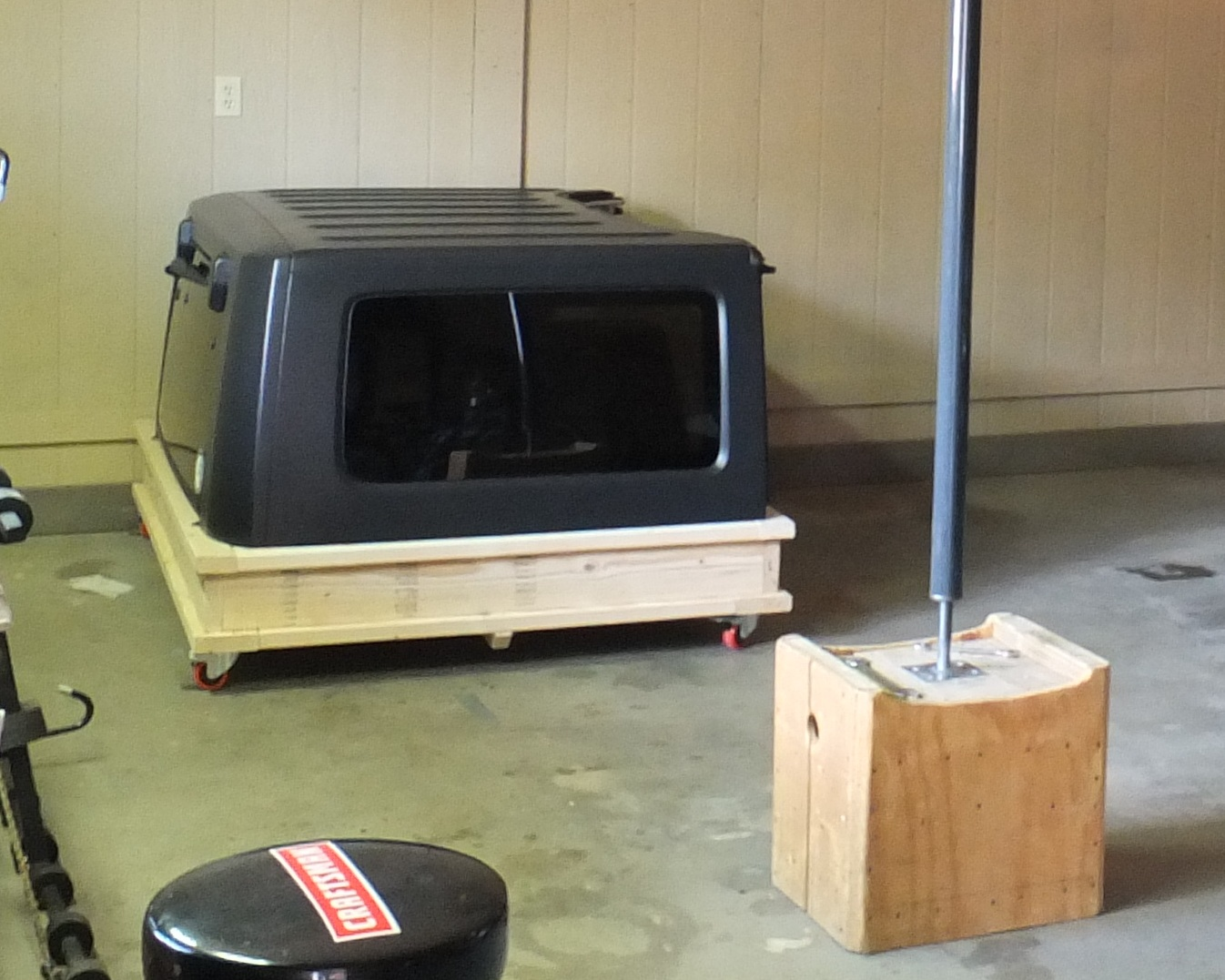 One person camper shell for Chevy S10 pickup-caddy-hard-top-stored.jpg