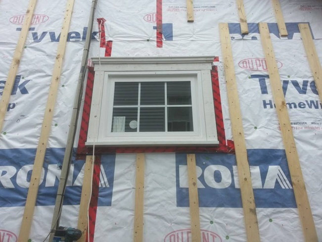 framing details for traditional exterior window trim