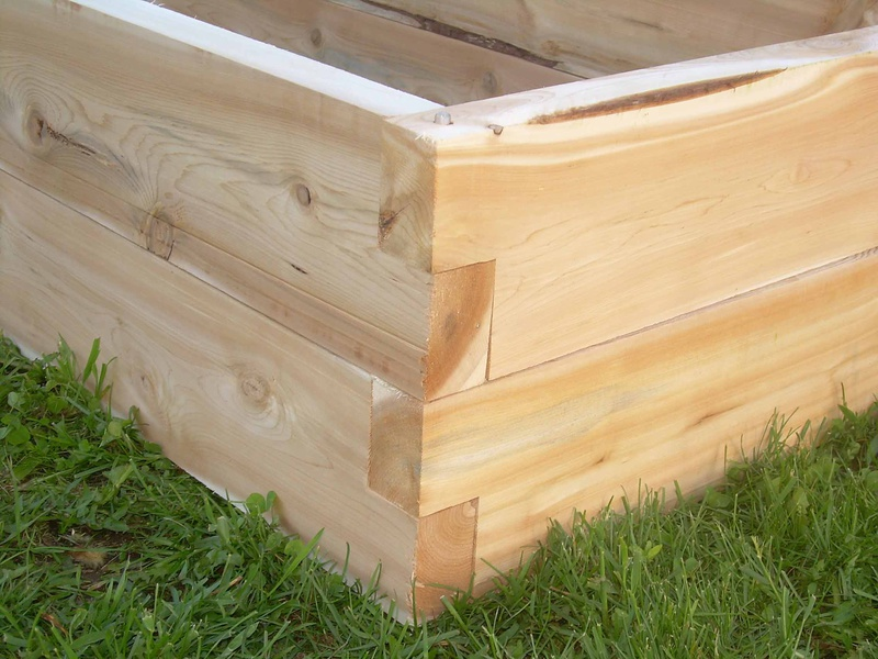 Interlocking Redwood Planter Boxes How To Get A Clean