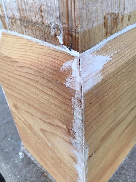 Gaps in cedar porch column - caulk or filler?-cedar_base5.jpg