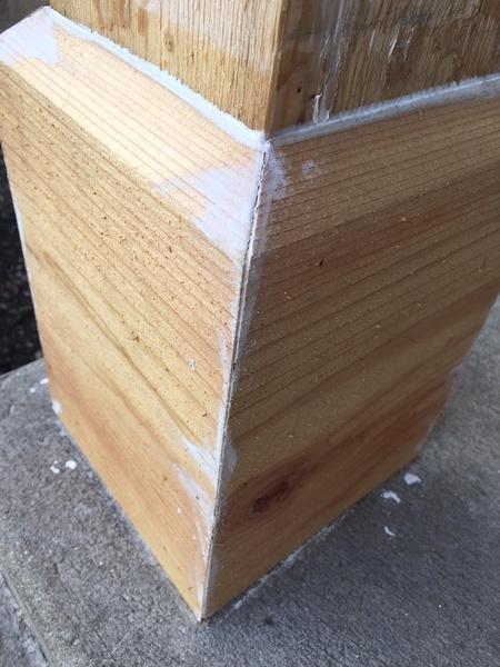 Gaps in cedar porch column - caulk or filler?-cedar_base6.jpg