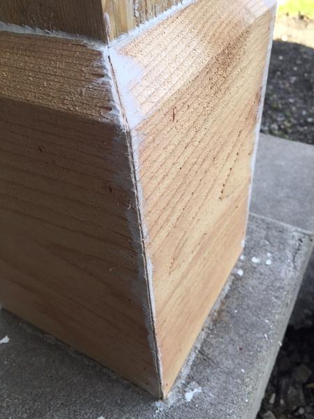 Gaps in cedar porch column - caulk or filler?-cedar_base7.jpg