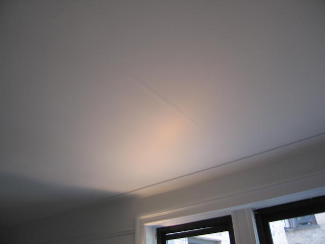 Water Damage Repairing Ceiling Drywall Defects At Seams