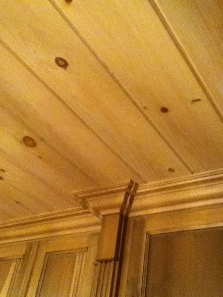 using white pine tongue and groove for ceiling - building
