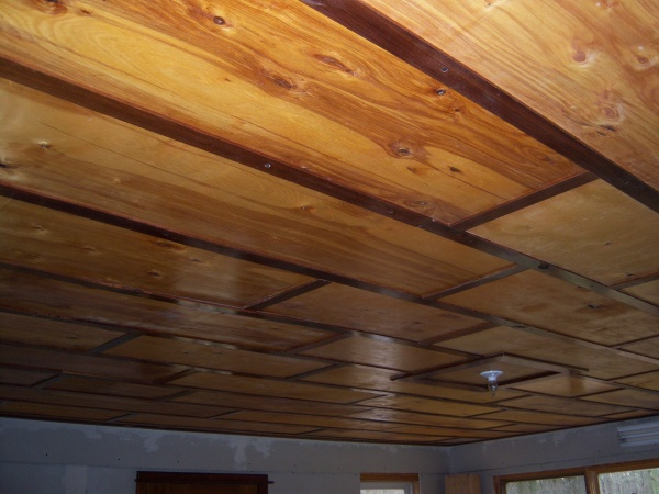 My  (300 sq. ft.) Homemade Birch/Walnut Ceiling-ceiling-done-1-.jpg