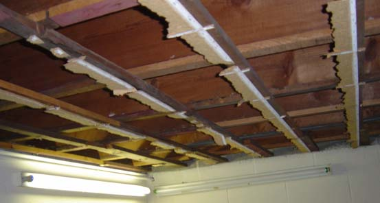 How to hang things from a cellulose tiled ceiling-ceiling-during.jpg