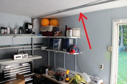 Garage Rafter is Split...repair??-ceiling-hitting-gas-line.jpg
