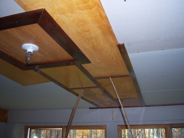 My  (300 sq. ft.) Homemade Birch/Walnut Ceiling-ceilingstart.jpg